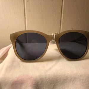 Elizabeth & James Pale Gold Round Sunglasses NWT